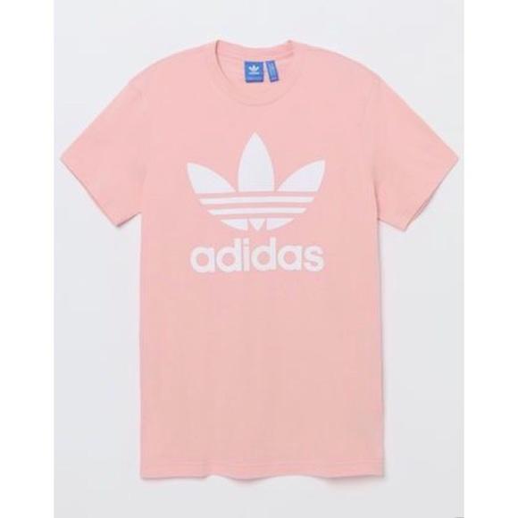 adidas Tops - Adidas Baby Pink Trefoil Tee 8ec3c6500f42